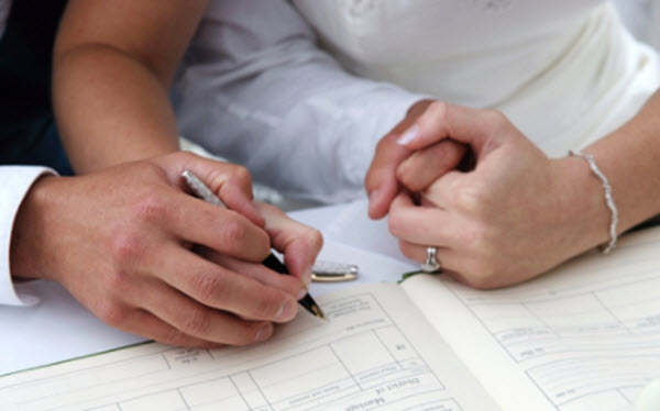 Documentos necessários para casar no cartório