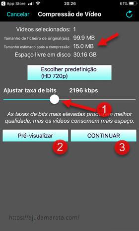 Como diminuir o tamanho de um vídeo no iPhone Video Compress