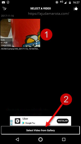Selecionar vídeo comprimir Vídeo Dieter 2 Android