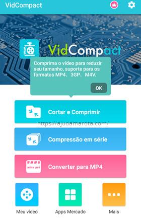 VidCompact comprimir vídeo no Android