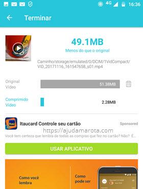 Vídeo comprimido VidCompact Android