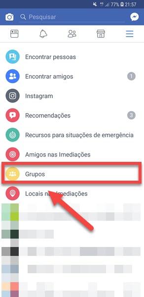 Criar um grupo no Facebook pelo celular