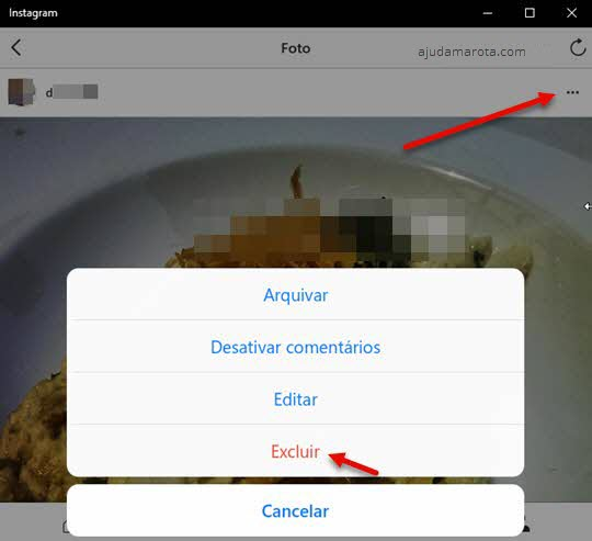 Como apagar fotos do Instagram pelo PC