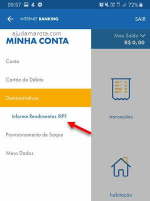 Demonstrativos Caixa app