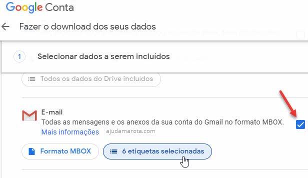 Agendar backup dos emails do Gmail no Google Takeout