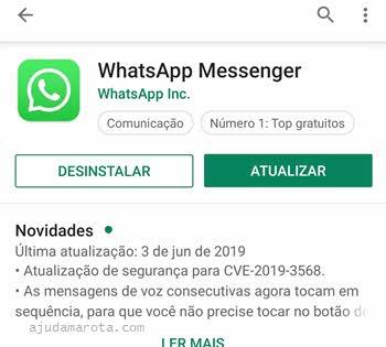 Atualizar o WhatsApp no Android ativar atualização automática