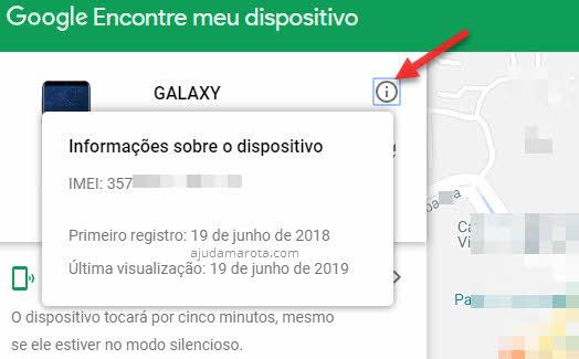 Descobrir IMEI do celular pelo Encontre Dispositivo Google