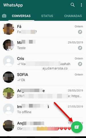 ícone nova conversa no WhatsApp