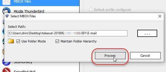 Processar arquivo Mbox para visualizar backup emails do Gmail