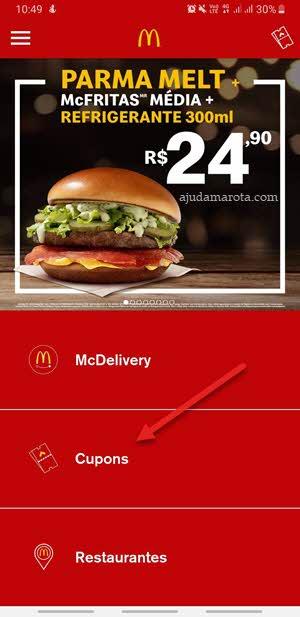 app McDonald's gerar cupons promoção lanches