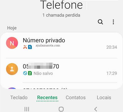 Como fazer ligação restrita do celular número privado