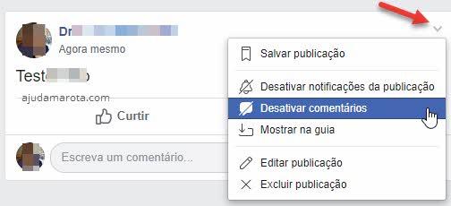 Desativar comentários em publicações em grupos do Facebook