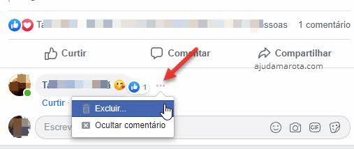 Excluir ou ocultar comentário do Facebook no perfil pessoal