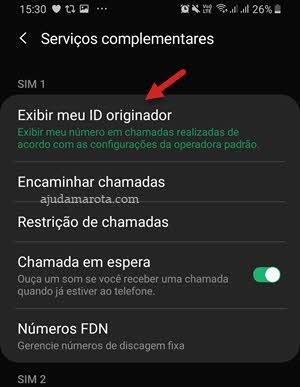 Exibir meu ID originador Chamadas app Telefone Android