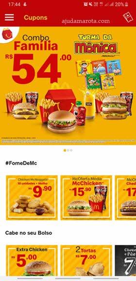 Promoções aplicativo McDonald's cupons