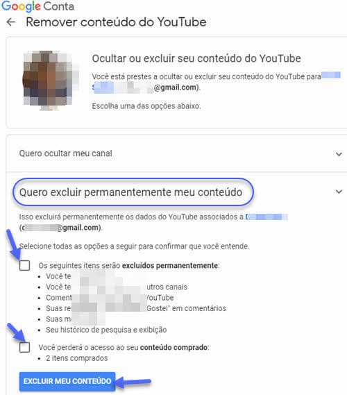Como excluir um canal do YouTube pelo PC ou celular