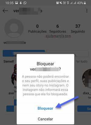 Excluir e bloquear seguidores do Instagram aplicativo