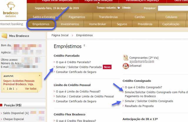 Simulador de empréstimo Bradesco online