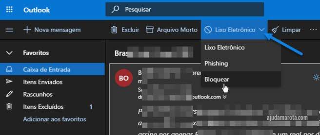 Como bloquear rementente de email no Outlook
