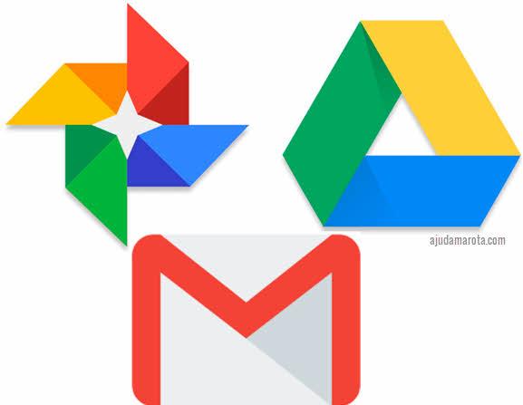 Gmail Google Drive, Google Photos liberar armazenamento Google