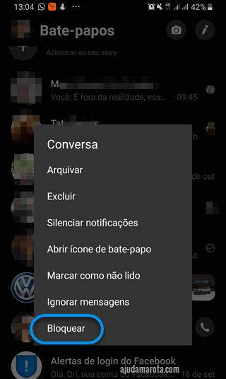 Bloquear Como tirar uma pessoa do Messenger do Facebook