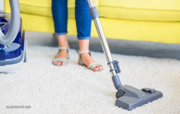 dicas para limpar o tapete de casa