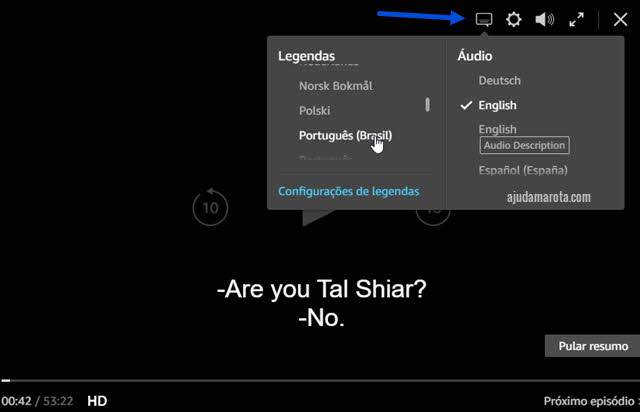 Como ativar as legendas no Prime Video e modificar idioma