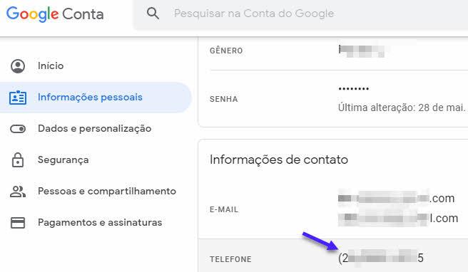 Como mudar telefone no Gmail pelo computador