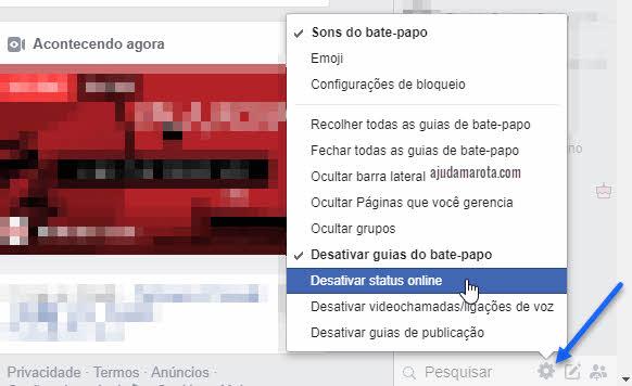 Como aparecer offline no Facebook e Messenger