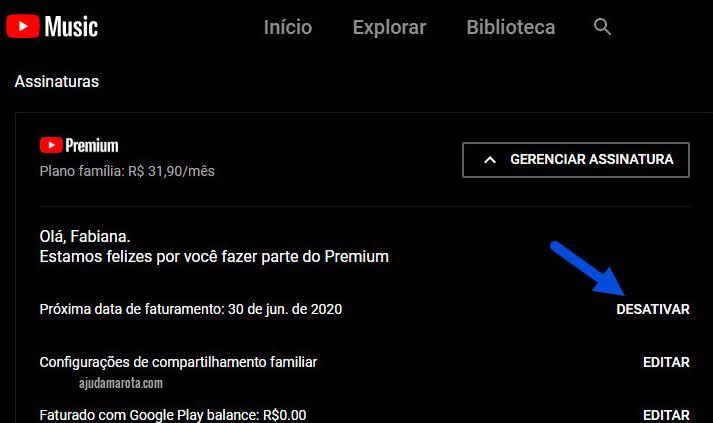 Como cancelar YouTube Premium, desativar cobrança recorrente