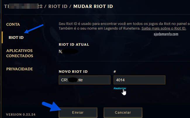 Alterar Riot ID, nome que aparece no jogo para outras pessoas
