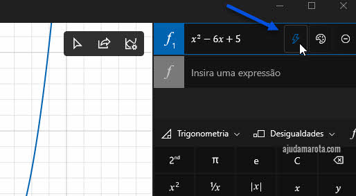 análise detalhada da equação, calculadora gráfica Windows