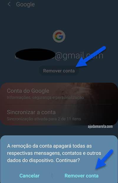 Apagar conta Google do Chrome no Android remove do sistema