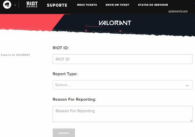 Como denunciar jogadores no Valorant da Riot