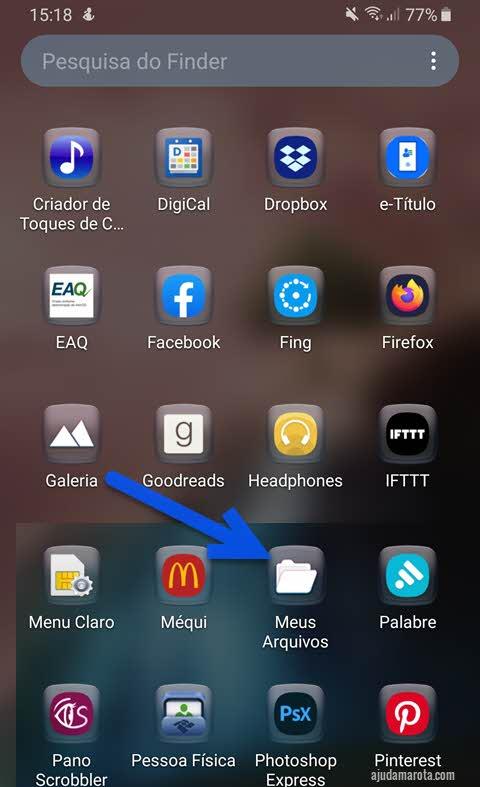 app Meus Arquivos do Android