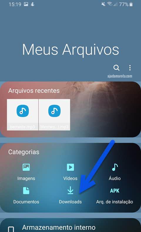 app Meus Arquivos pasta download onde ficam os downloads do Android