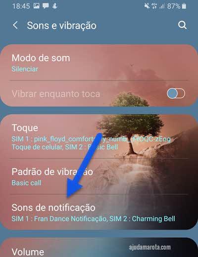 Como alterar o som das notificações no Android