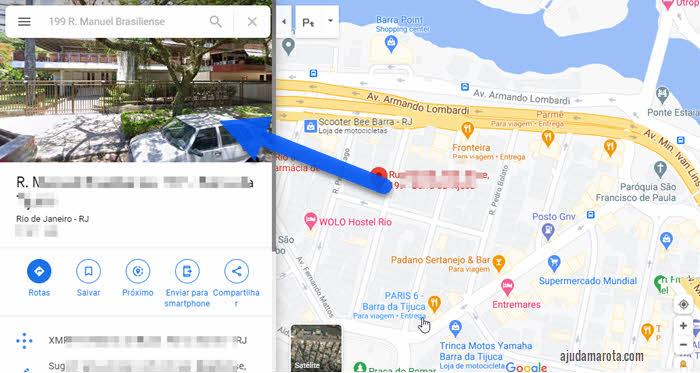 Abrir Google Street View no Google Maps