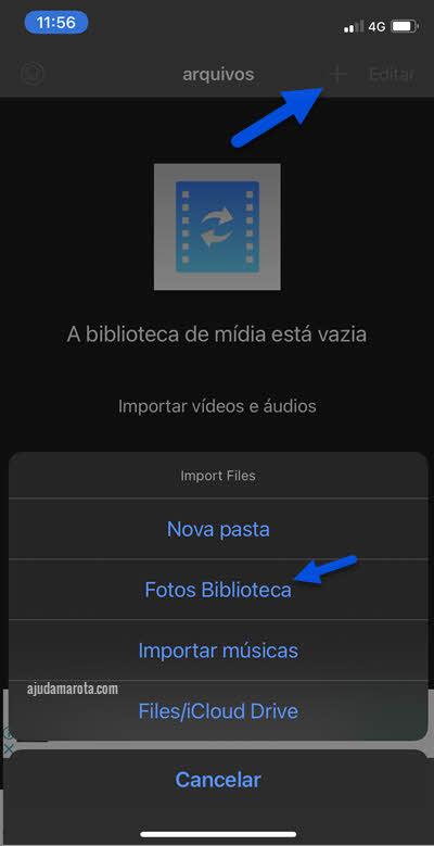 Abrir vídeo no Media Converter Conversor Mídia iPhone