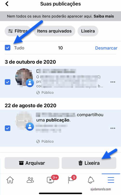 Apagar vários posts do Facebook ao mesmo tempo pelo iPhone e Android