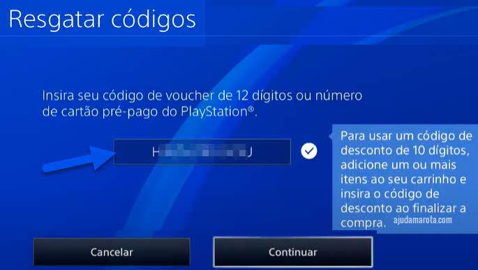 Passo a passo para ativar código de jogo no Playstation 4