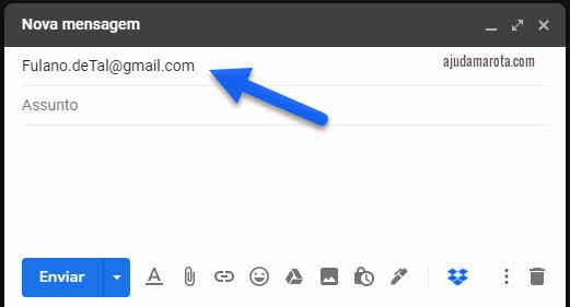 Se colocar letra maiúscula no email do Gmail dá erro?