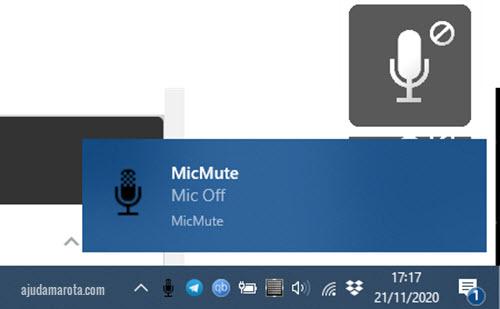 Atalho no teclado para desativar microfone do Windows, deixar mudo