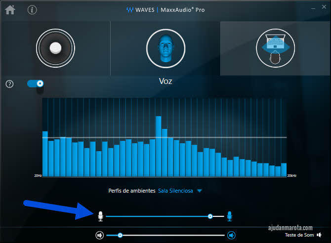 dell waves audio microfone
