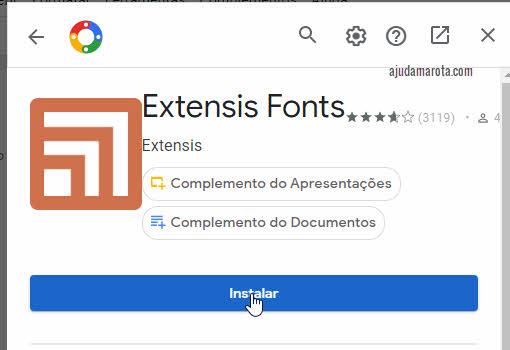 Instalar extensão de fonte no Google Docs
