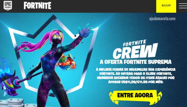 Como cancelar assinatura do Fortnite Crew Clube