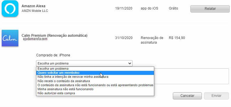 Como pedir reembolso na AppStore Apple