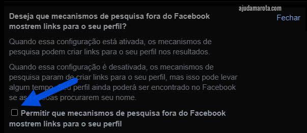 Como remover seu perfil do Facebook dos resultados do Google
