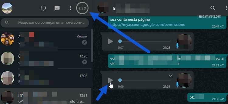 Como acelerar os áudios do WhatsApp no computador
