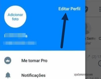 Menu lateral Editar Perfil Truecaller app